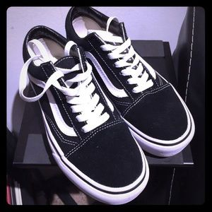 Vans Old Skool Platform Black and White